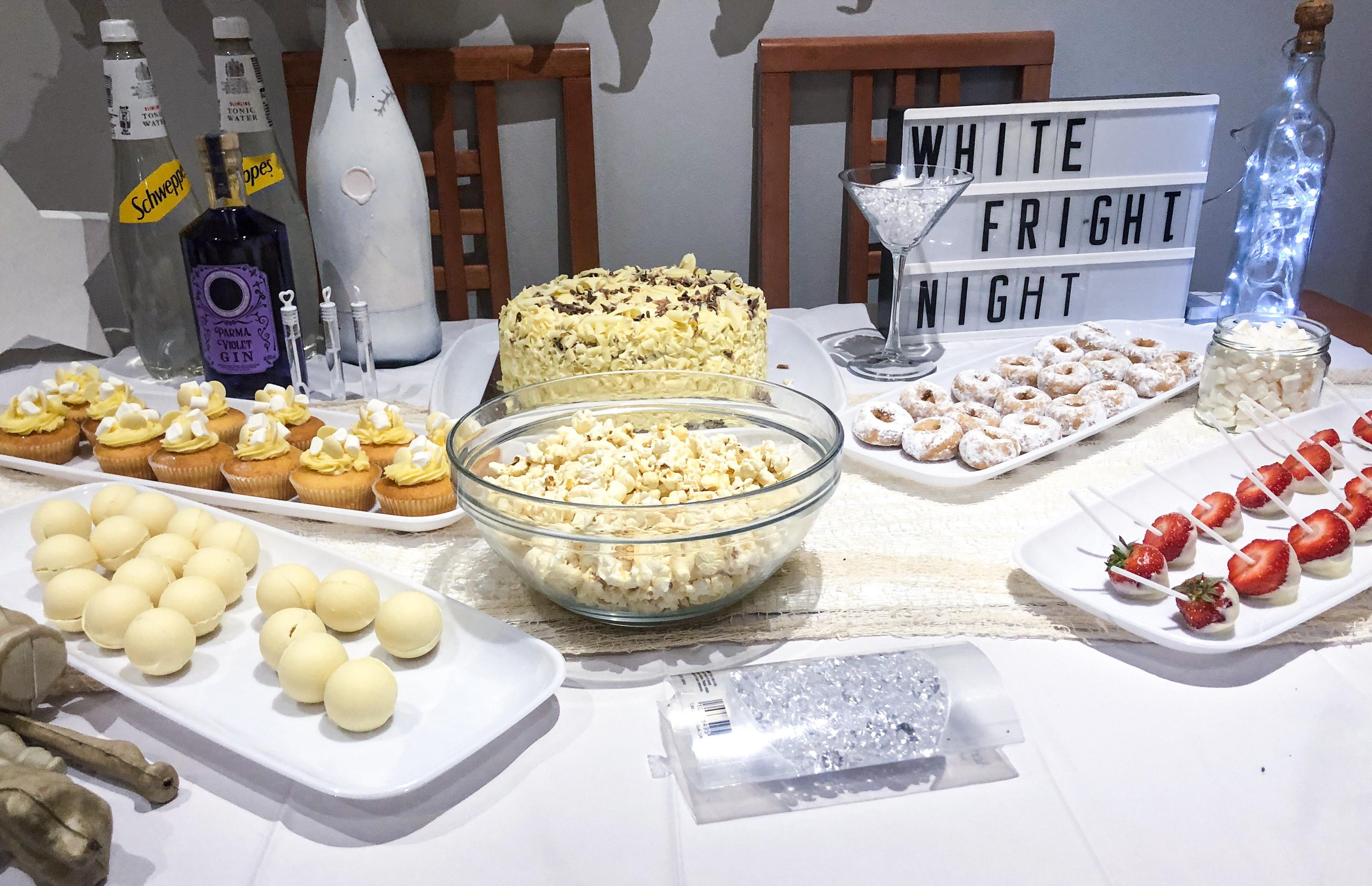 White theme party food